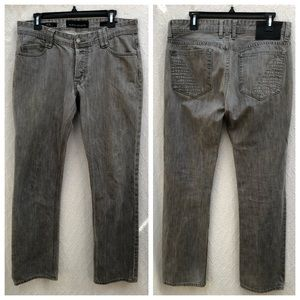 Affliction Ace Slim Straight Jeans Gray